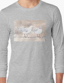 Seagulls at Durban Harbour, South Africa Long Sleeve T-Shirt