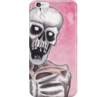 watercolor painting of a skeleton iPhone Case/Skin