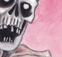 watercolor painting of a skeleton Sticker