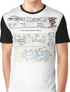 Serenity Firefly floorplan schematics Graphic T-Shirt