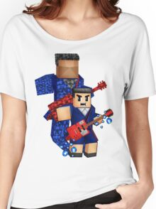 8bit boy with 12th Doctor shadow Women's Relaxed Fit T-Shirt