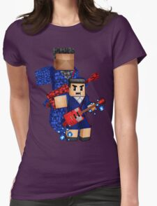 8bit boy with 12th Doctor shadow Womens Fitted T-Shirt