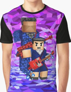 8bit boy with 12th Doctor shadow Graphic T-Shirt