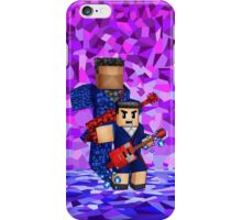 8bit boy with 12th Doctor shadow iPhone Case/Skin
