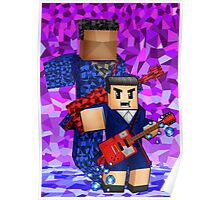 8bit boy with 12th Doctor shadow Poster