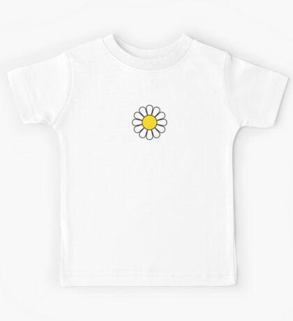 Black Flower Blossom Skirt Kids Tee