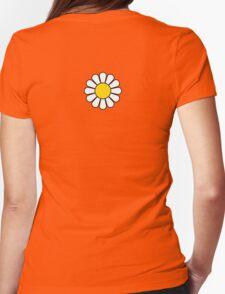 Black Flower Blossom Skirt Womens Fitted T-Shirt