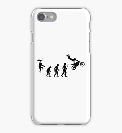 Evolution Dirtbike Funny T Shirt iPhone Case/Skin