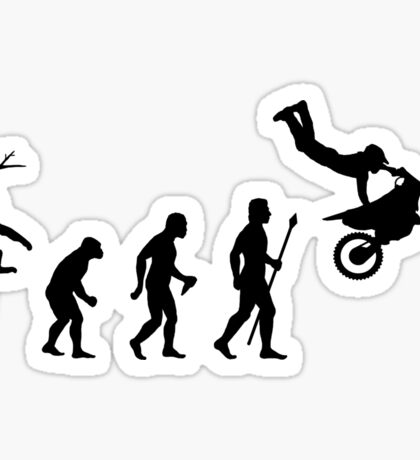 Evolution Dirtbike Funny T Shirt Sticker