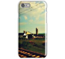 Rural PA as seen from a moving train iPhone Case/Skin