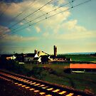 Rural PA as seen from a moving train by ShellyKay