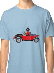 Cool Funny Ladybug Driving Beetle Convertible Classic T-Shirt