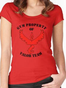 pokemon go gym property valor team Women's Fitted Scoop T-Shirt