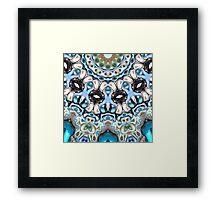 Melting Colors In Symmetry Framed Print