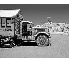 Salvation Mountain Truck Photographic Print