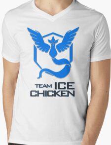 Team Ice Chicken Mens V-Neck T-Shirt
