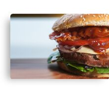 Classic deluxe cheeseburger Canvas Print