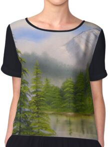 morning in the mountains Chiffon Top