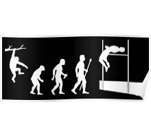 Funny High Jump Evolution Shirt Poster