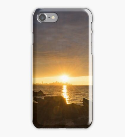 Summer Gold - Sparkling Sunrise on the Shore of Lake Ontario in Toronto iPhone Case/Skin