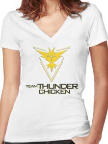 Team Thunder Chicken Women's Fitted V-Neck T-Shirt