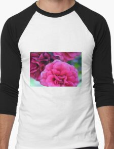 Pink roses, natural composition. Men's Baseball ¾ T-Shirt