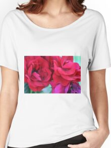 Pink roses, natural composition. Women's Relaxed Fit T-Shirt