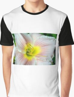 Macro on white summer flower. Graphic T-Shirt
