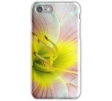 Macro on white summer flower. iPhone Case/Skin