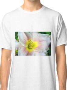 Macro on white summer flower. Classic T-Shirt
