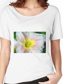 Macro on white summer flower. Women's Relaxed Fit T-Shirt