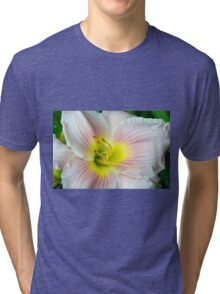 Macro on white summer flower. Tri-blend T-Shirt