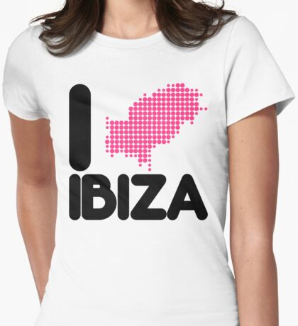 I Love Ibiza Quote Womens Fitted T-Shirt