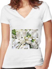 Roses-4- Me Women's Fitted V-Neck T-Shirt