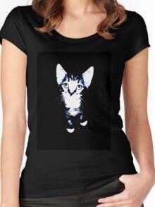 Cute Kitten Design Women's Fitted Scoop T-Shirt