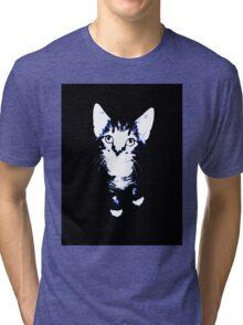 Cute Kitten Design Tri-blend T-Shirt