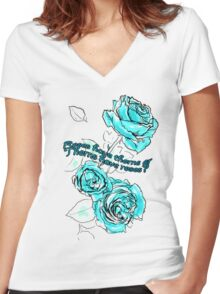Roses and thorns Women's Fitted V-Neck T-Shirt