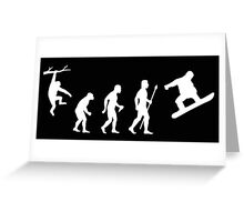 Funny Snowboarding Evolution Shirt Greeting Card