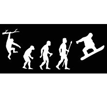 Funny Snowboarding Evolution Shirt Photographic Print