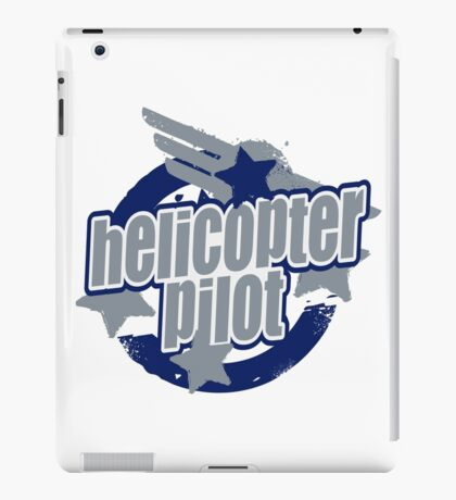 Helicopter pilot iPad Case/Skin