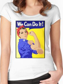 We Can Do It Feminist Women's Fitted Scoop T-Shirt