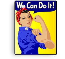 We Can Do It Feminist Canvas Print