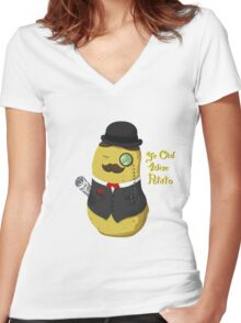 Ye Old Wise Potato Women's Fitted V-Neck T-Shirt