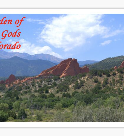 Garden of the Gods #9 Sticker