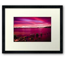 Pink Glow - Applecross Jetty Framed Print