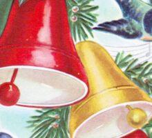 Vintage Christmas Bells and Birds Sticker