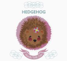 Cute Whimsy Woodland Animal Baby Hedgehog Design One Piece - Short Sleeve