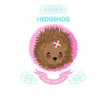 Cute Whimsy Woodland Animal Baby Hedgehog Design Photographic Print