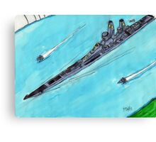 Battleship Vanguard Taskforce 65 Canvas Print