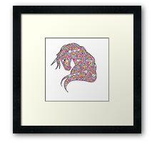 pink-unicorn Framed Print